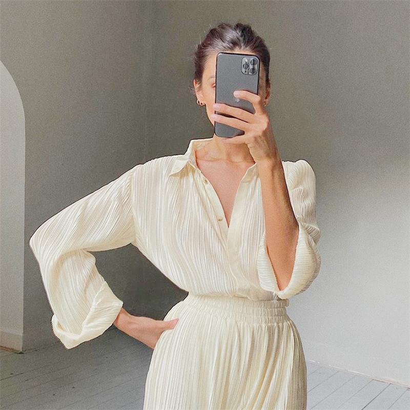 COREAN manica lunga donna Top e camicette 2021 Donne di primavera Autunno Camicetta Vintage Woman Shirts Professional M209 Donna