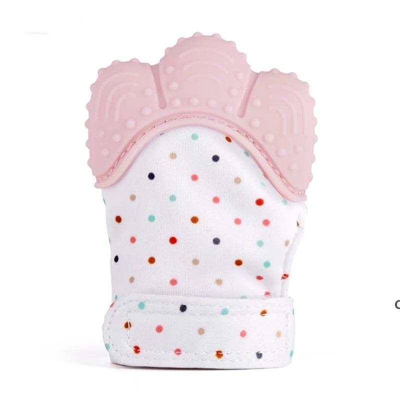 Baby Teether Перчатки Скрипфированные зубы жевать звуковые игрушки милые зубы детские игрушки новорожденные туманные туманные туманные туманные туманные игрушки DHE6073