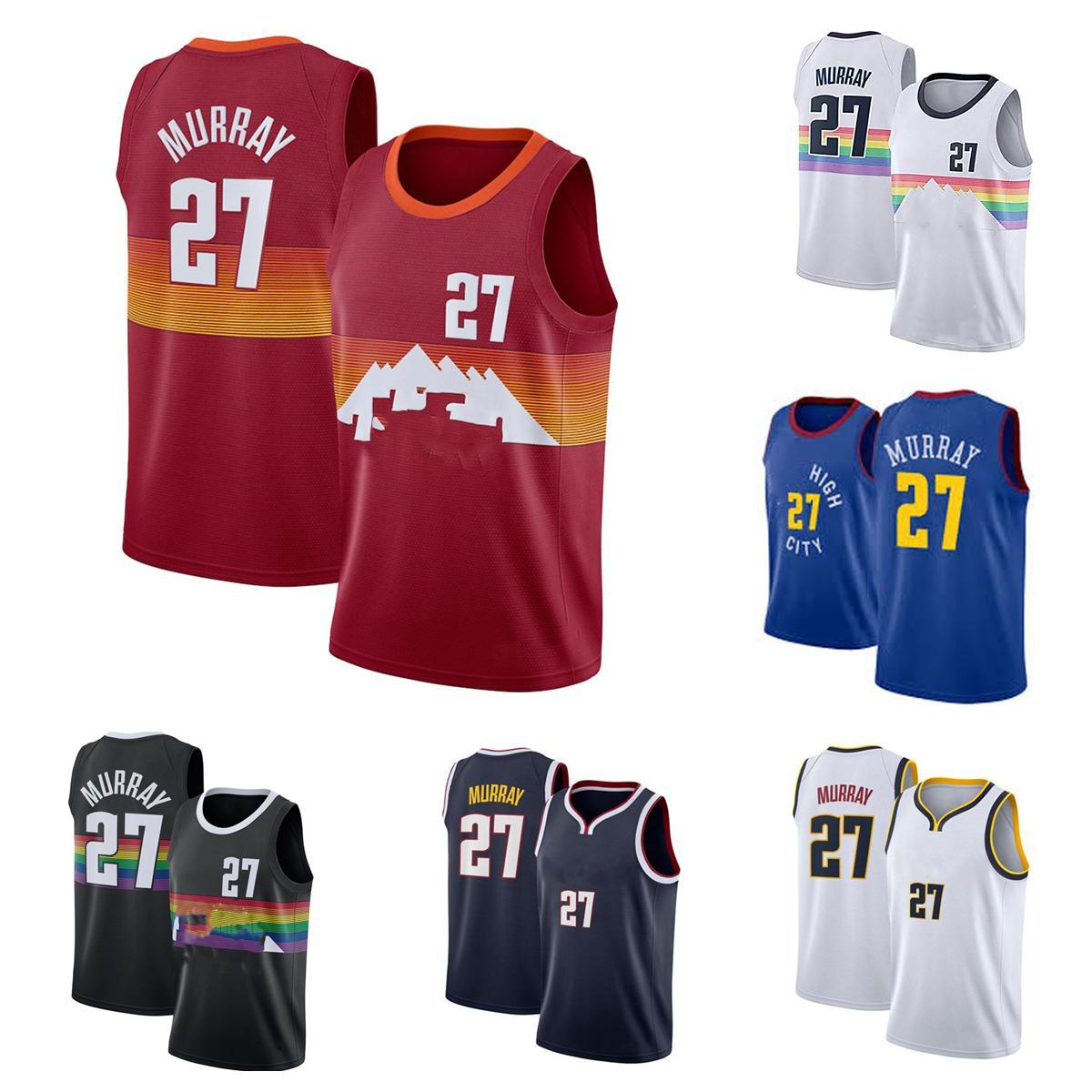 2021-2022 Hoher Qualität genäht Basketball-Jersey 27 Jamal Murray
