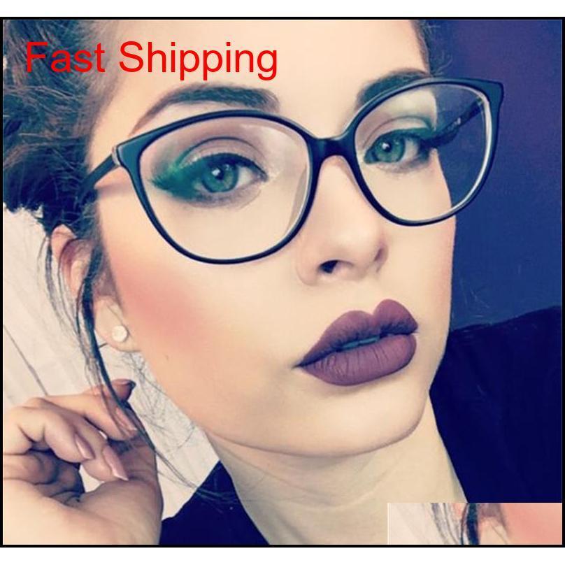 Солнцезащитные очки Модные аксессуары Drop Доставка 2021 Старинные очки для глаз для женщин Очистить объектив Небольшой Рамка Дизайнер Бренд Оптические рамки Myop