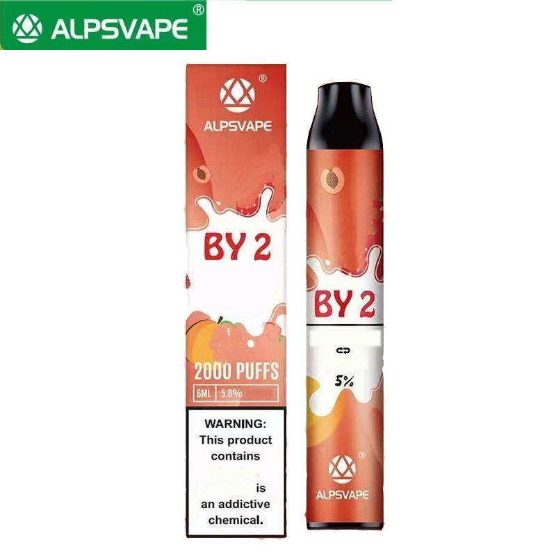 일회용 vape 2000 퍼프 바 더블 플러스 2 in 1 스위치 E 담배 1000mAh 배터리 6ml 용량 에어 바 최대 alpsvape