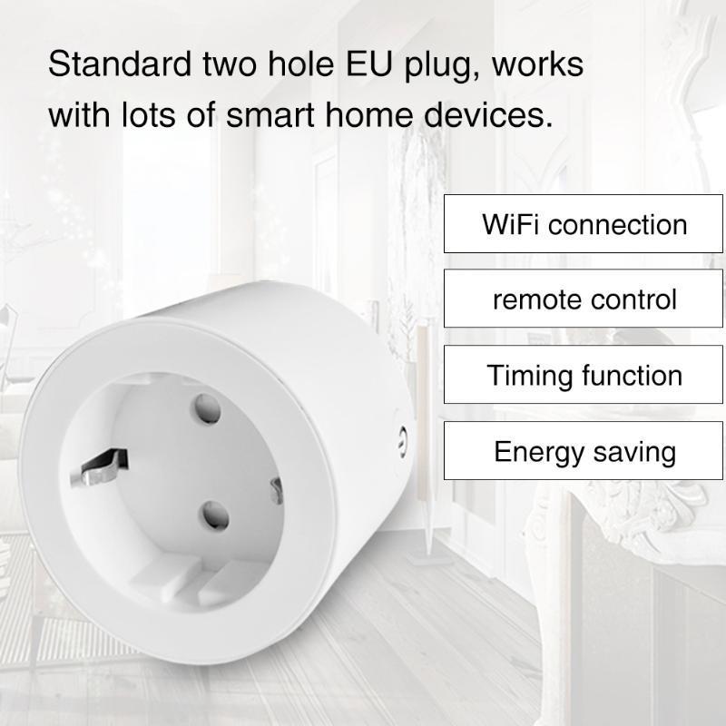 Smart Power Plugs Telecomando Electric Eu Plug Plug Travel Mini Home Assistant Wall 16a WiFi Presa Accessori Memory Outlet Interruttore tempo
