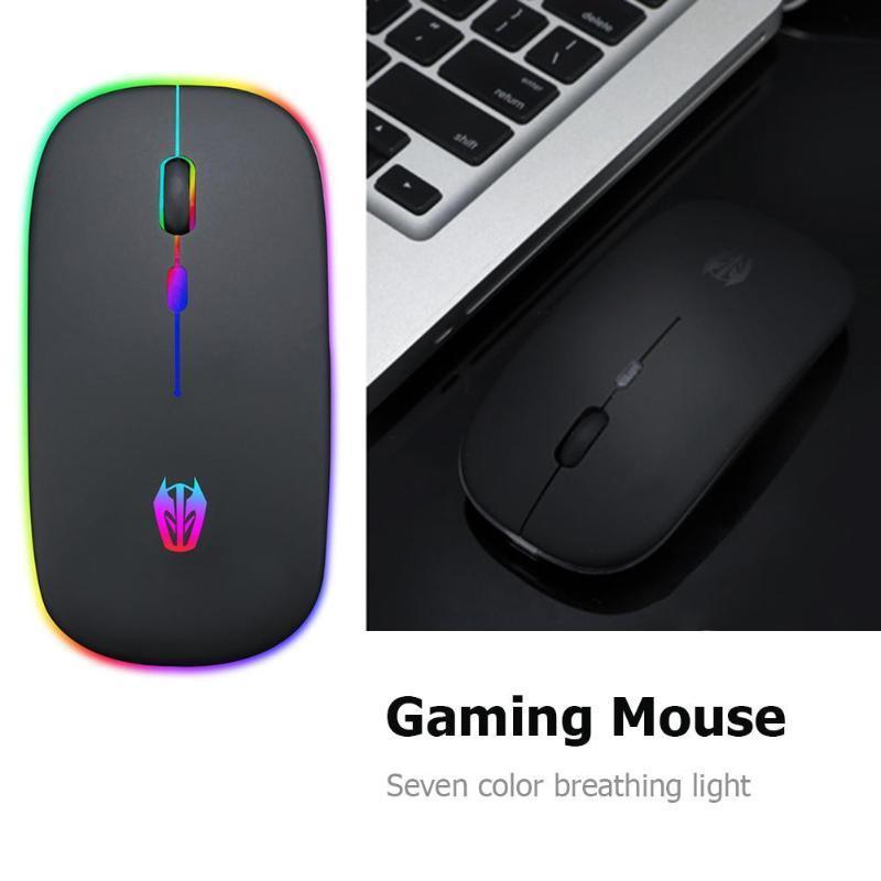 hiperdeal (hiperdeal) 마우스 a5 2. 4GHz 무선 1600dpi 마이크로 USB 7 색 호흡 빛 게임 마우스
