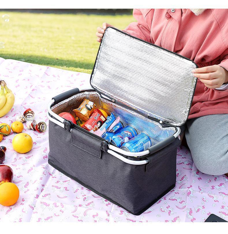 Auto-Organizer-zusammenklappbare Kühler-Tasche isoliert Leckdichte weiche tragbare Tasche für Reise / Picknick / Sport / Flug