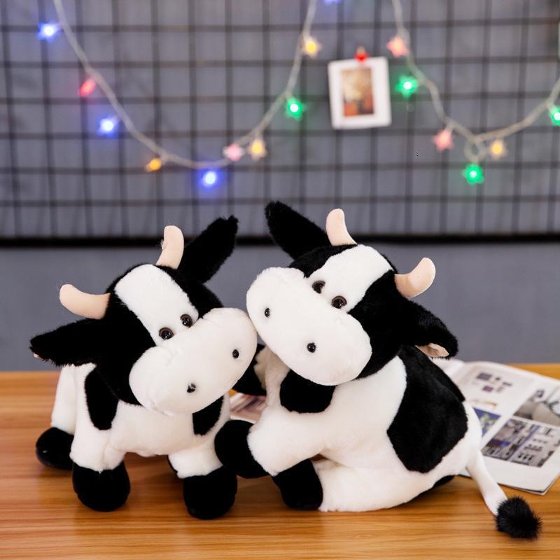 Plüschpuppen wenig Das Jahr der Ochsenmaskottchen Niedliche Station Bull Simulation Kuh Puppe Spielzeug Unternehmen Jährliche Treffen Aktivität Geschenk