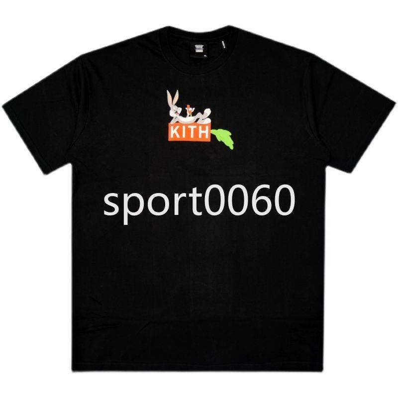 KITH Новая морковная коробка мультфильм печатные ошибки Bunny совместные серии мужские и женские футболки с круглым вырезом с круглым рукавом