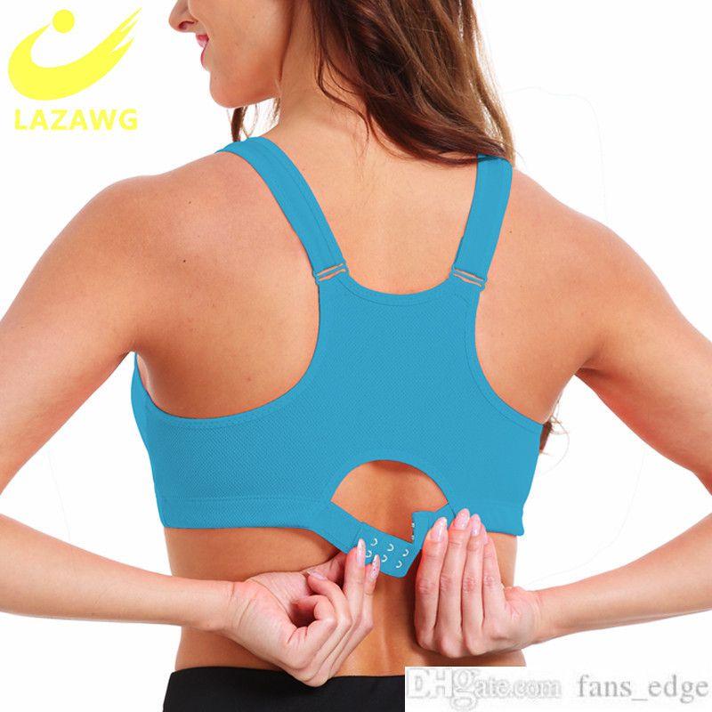 Lazawg plus size s-5xl sutiã esportivo para as mulheres ginásio push up colete underwear alta à prova de choque à prova de choque fitness atlético yoga sutiã topssoccer jerse