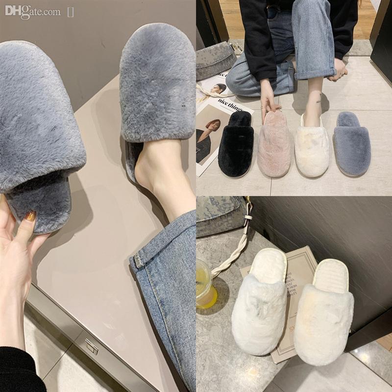 4Q9UX Wenyujh Yaz Mektubu Peluş Kadınlar Kalın Roma Rahat Ayakkabılar Terlik Alt Kama Toe Açık Lüks Sandalet Beach Tasarımcı Kayma
