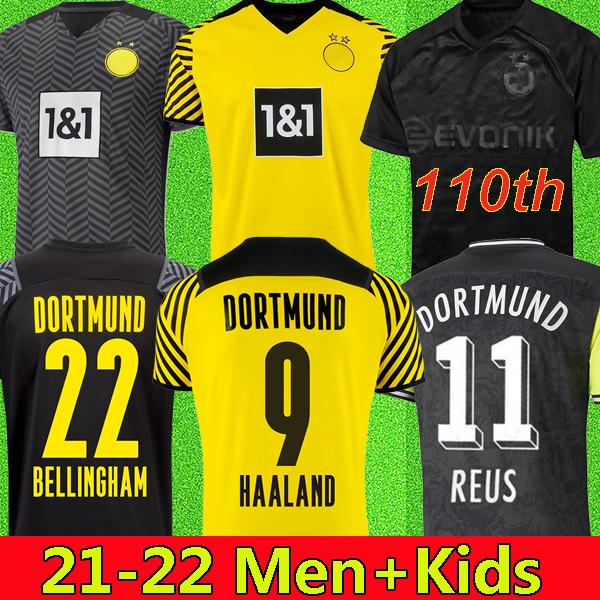 110th Home Home Limited Edition Haaland Reus Borussia الفانيلة 4th Dortmund Soccer Jersey Special 2022 قمصان كرة القدم 21 22 Sancho Brandt Plszczek مجموعات الرجال الاطفال