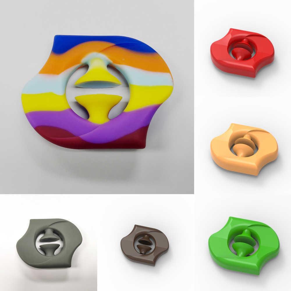 Fidget Mano Grip Toys Rainbow Squesy Sensory Grab Snap Squeeze Toy Snapers Snapers Fuerza Autismo Estrés Alivio Pionero Presion Agarra Brazo Entrenamiento muscular Venta G636kv5