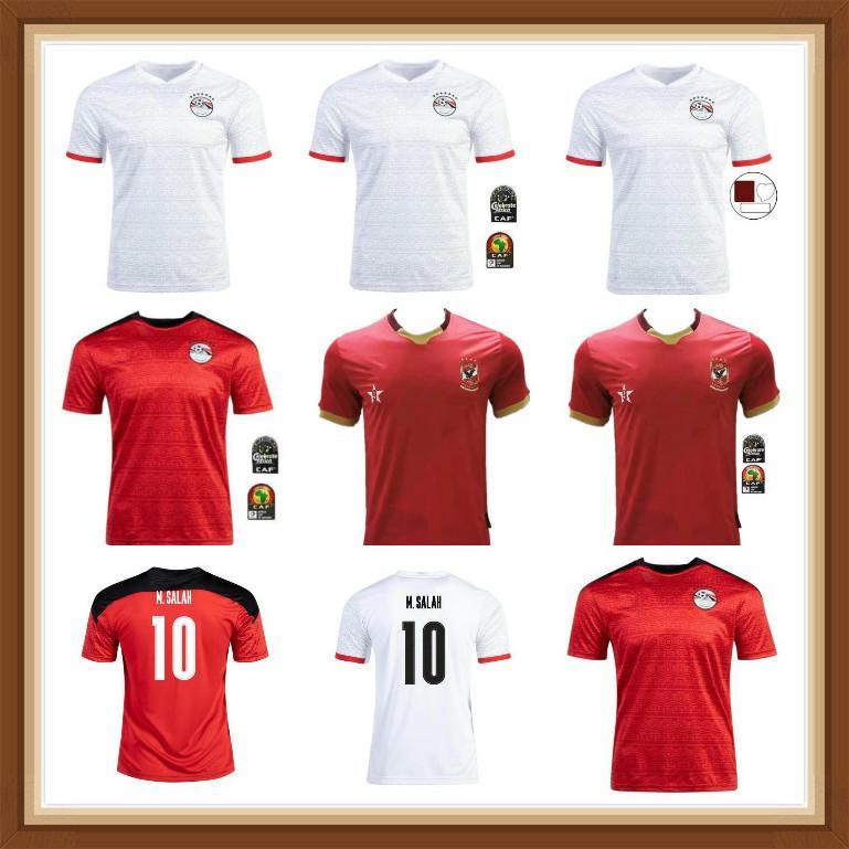 2021 2022 Egitto Maglia da calcio di alta qualità Casa a casa 20 21 22 22 Kahraba A. Hegazi Ramadan M.Elneny Top Tailandia uomo camicie da calcio