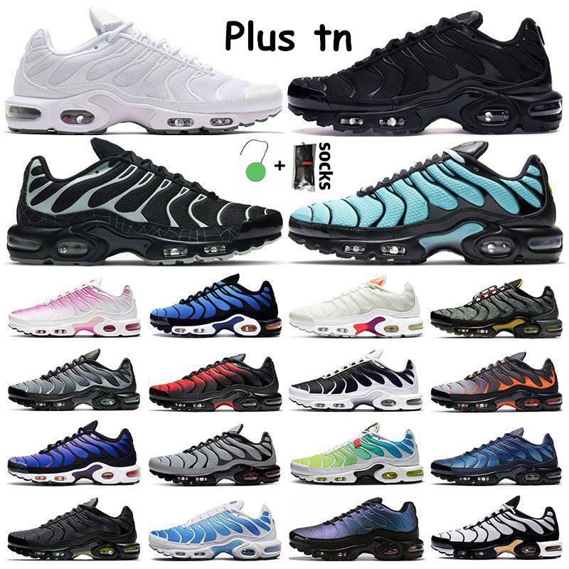 2021 플러스 TN Mens 운동화 야외 신발 트리플 화이트 볼트 레드 블랙 그라데이션 오레오 회색 오렌지 하이퍼 블루 헥스 스포츠 여성 트레이너