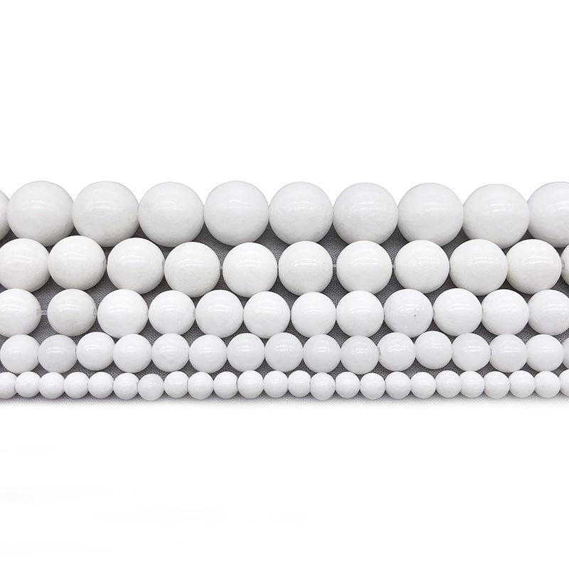 "Perline di pietra naturale Tridacna Pietra Bianco Bianco Bianco Bianco per gioielli che fa 15,5 ""Taglia taglia 4/6/8/10/12 mm -F00095 1695 Q2"
