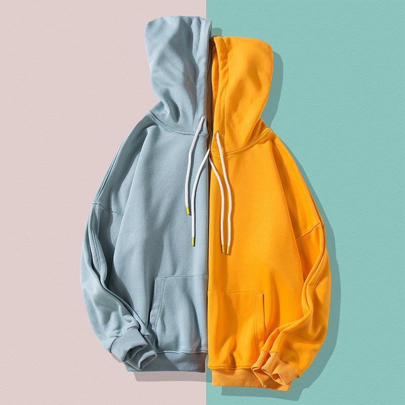 Frau sweatshirts fest 12 farben koreanische weibliche mit Kapuze Pullover 2021 baumwolle dicke warm übergroß paar hoodies frauen