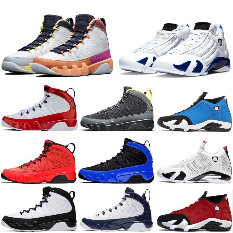 Mężczyźni Air Jordan Retro 9. Buty do koszykówki Siłownia Czerwona Czarna Zmień Świat Nie UNT Horld Jorden 14 14S Space Jam University Blue Racer Trenerzy Sneakers