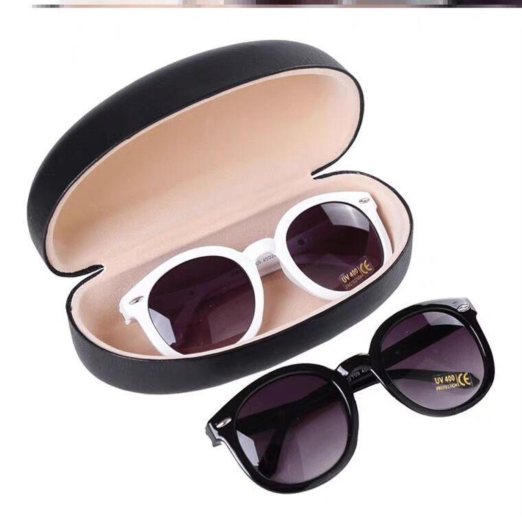 2021 Fashion Kids Gafas de sol Niño Niño Negro Gafas de sol Anti-UV Bebé Sombreado de sol Gafas Chica Boy Gafass