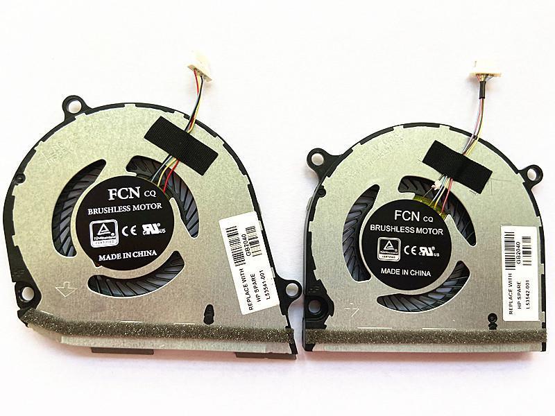 구기 X360 15-DS DR L53542-001 L53541 노트북 패드를위한 브랜드 CPU 냉각 팬