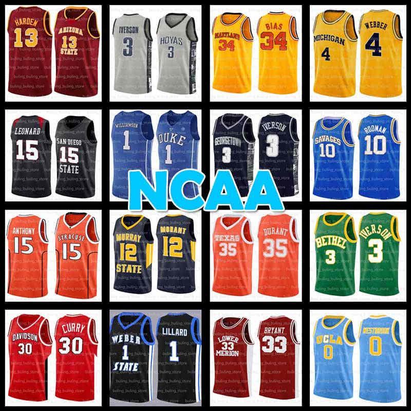 NCAA Durant James Morant Harden Iverson College Basketball Jersey Allen Ja Zion Kevin Williamson Ucla Chris Webber Unterer Mersion Georgetown Hoyas Rodman Westbrook