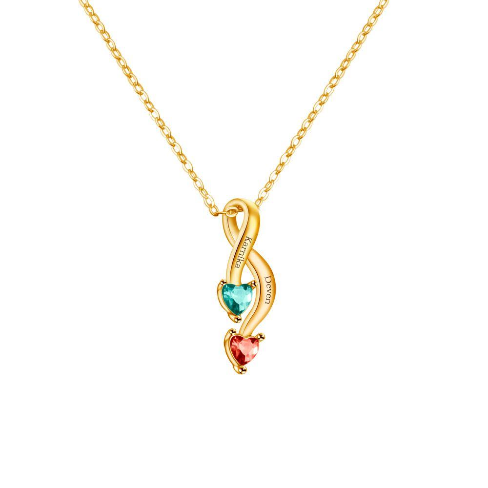Aiyanishi мода настроенное имя очарование ожерелье для женских ювелирных изделий подарок пользовательские ваше имя рождения Crystal мужчины цепи ожерелье