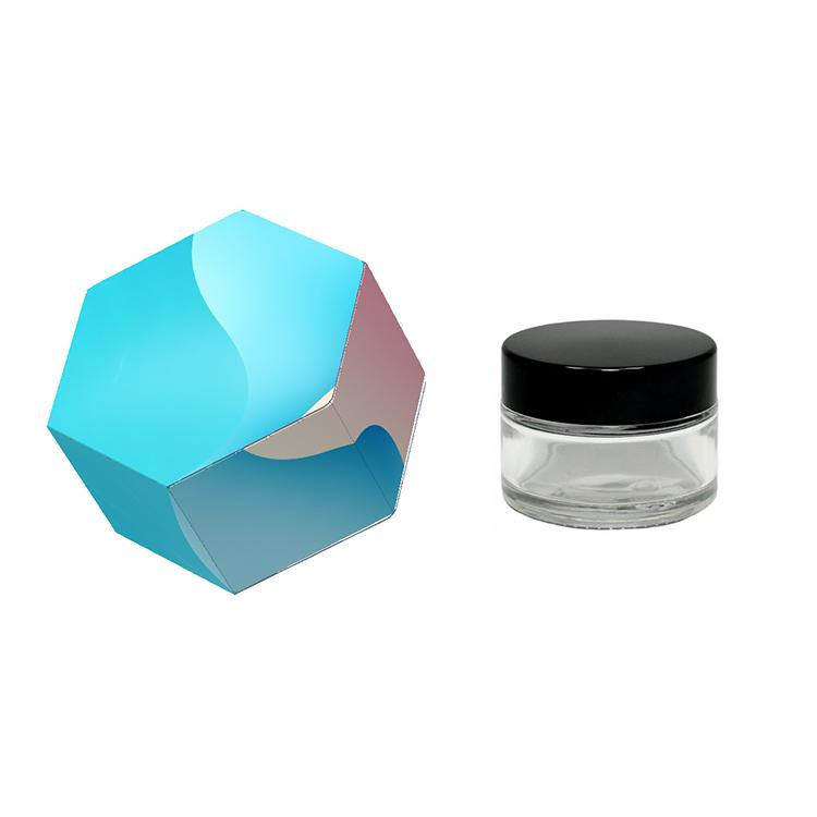 Custom Wax Jar Packaging Box OEM for 3ml 5ml 7ml 9ml Glass Jars Dab Extracts Shatter Concentrate Container Customized Sticker Available NPLI
