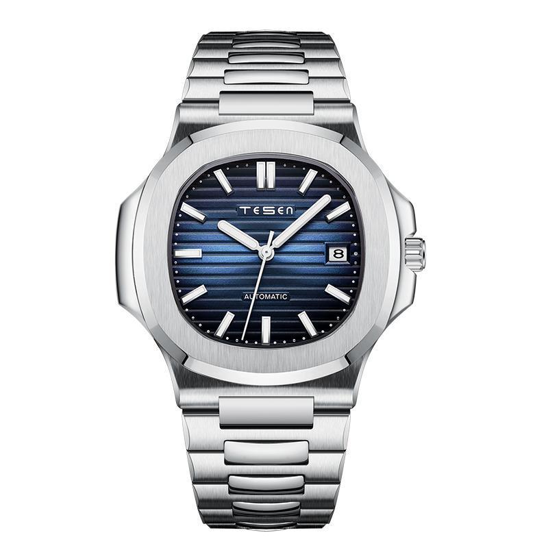 Saatı 2021 Tesen Erkekler Otomatik Mekanik Saatler Üst 316L Paslanmaz Çelik Su Geçirmez 50m Saatler Nautilus