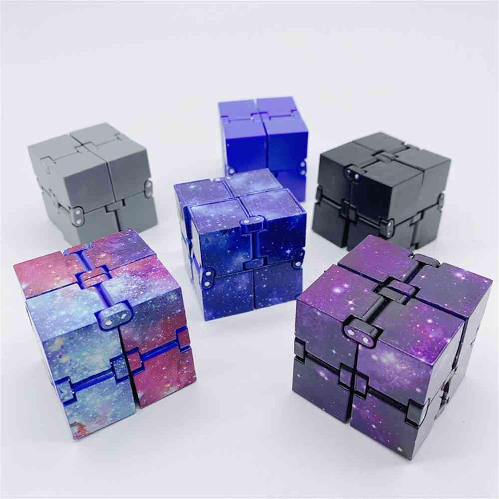 Magic Infinite Cube with Retail Box Starry Infiniti Cubes Infinity Flip Puzzle Anxiety Reliever Sensory Educational Autism Anxiety Stress Relief H41FUWB