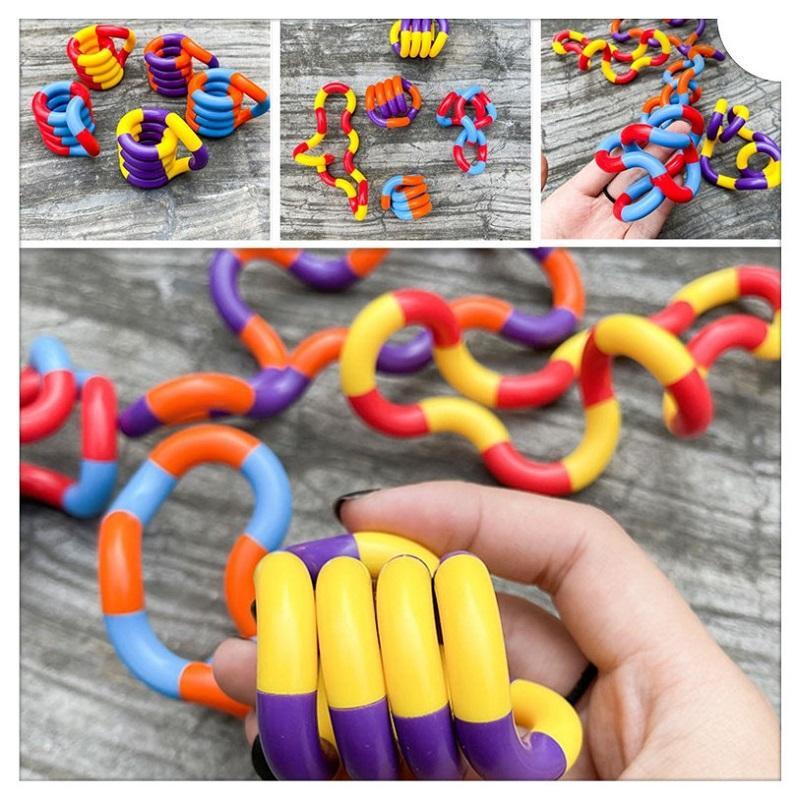 Entrenamiento Tanggled Fidget Togets Adult Relax Therapy Relieve de estrés Mano Sensor de descompresión Torcido Toy Blindado Para Niños Autismo Destreza