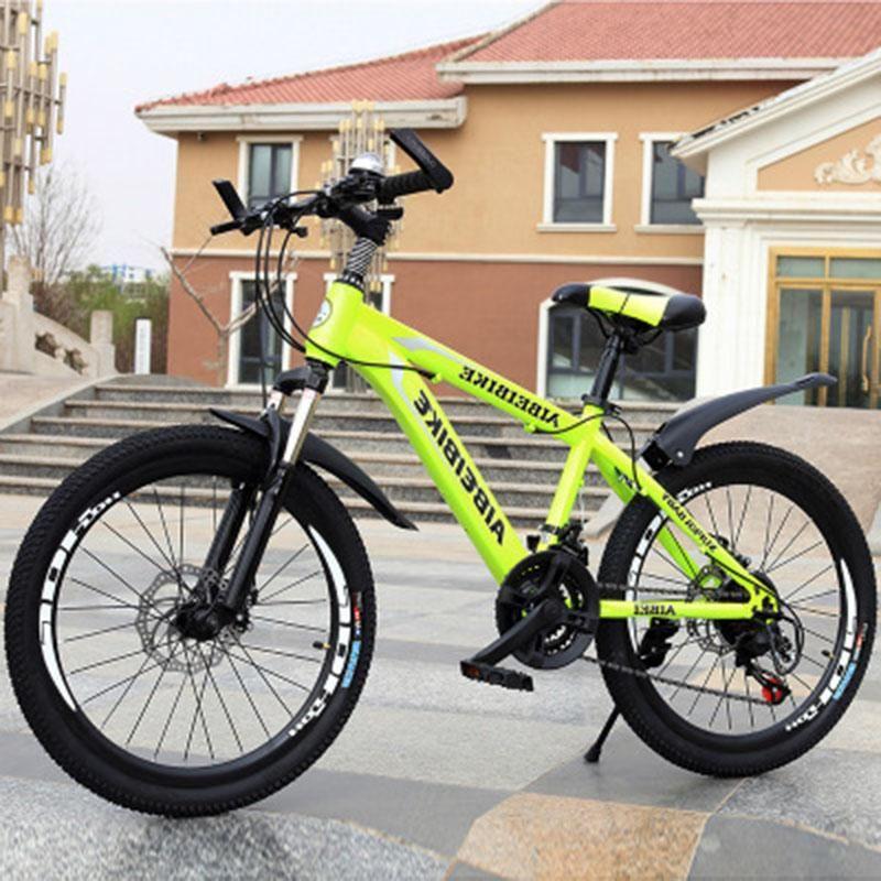 Студент Взрослый Велосипед 24-Скорость Двухдисковой Тормозной Аморт 24-дюймовый Горный велосипед Велосипеды