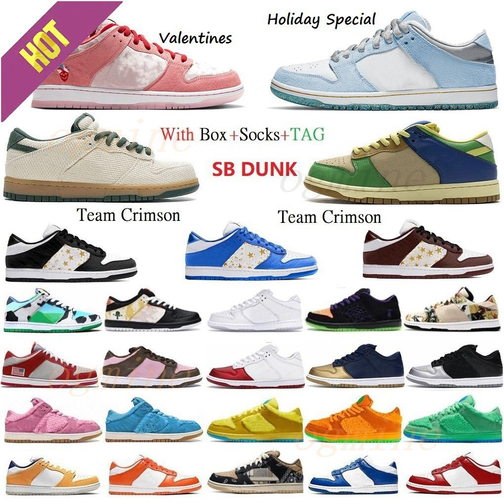 Con scatola classica SB Shadow Dunky Chunky Scarpe da corsa Travis Scotts Scotts Dunk Civilista Viteech Plum Pigea Platena Piattaforma Pianta Pianta Pianta Piena Verticale Uomini Donne Sneakers # 2021 #