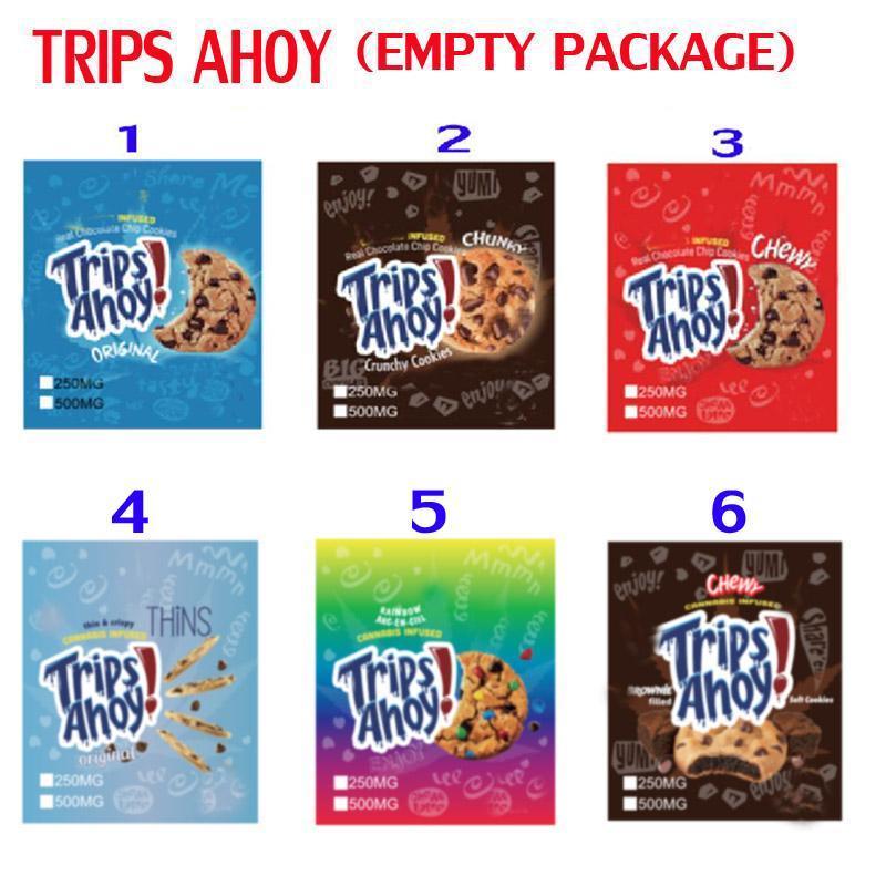 500 mg CerealTrats Crujientes Bolsas Bolsas Frutas Guijarros Chocolate Canna Mantequilla Brownies Chewy Trips Ahoy Chips Medicados Bedibels Packaging Mylar
