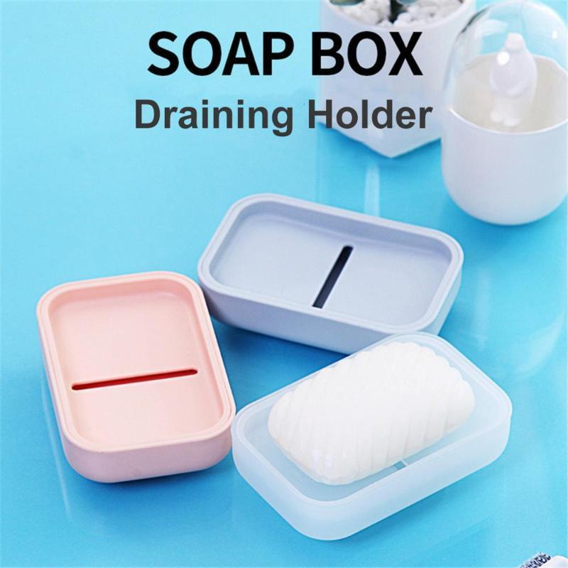 TRAVELL JABEN Caja de placa Higiene higiénico Higiénico fácil de transportar drenaje con tapa para el hogar portátil del estilo japonés @ 15 platos