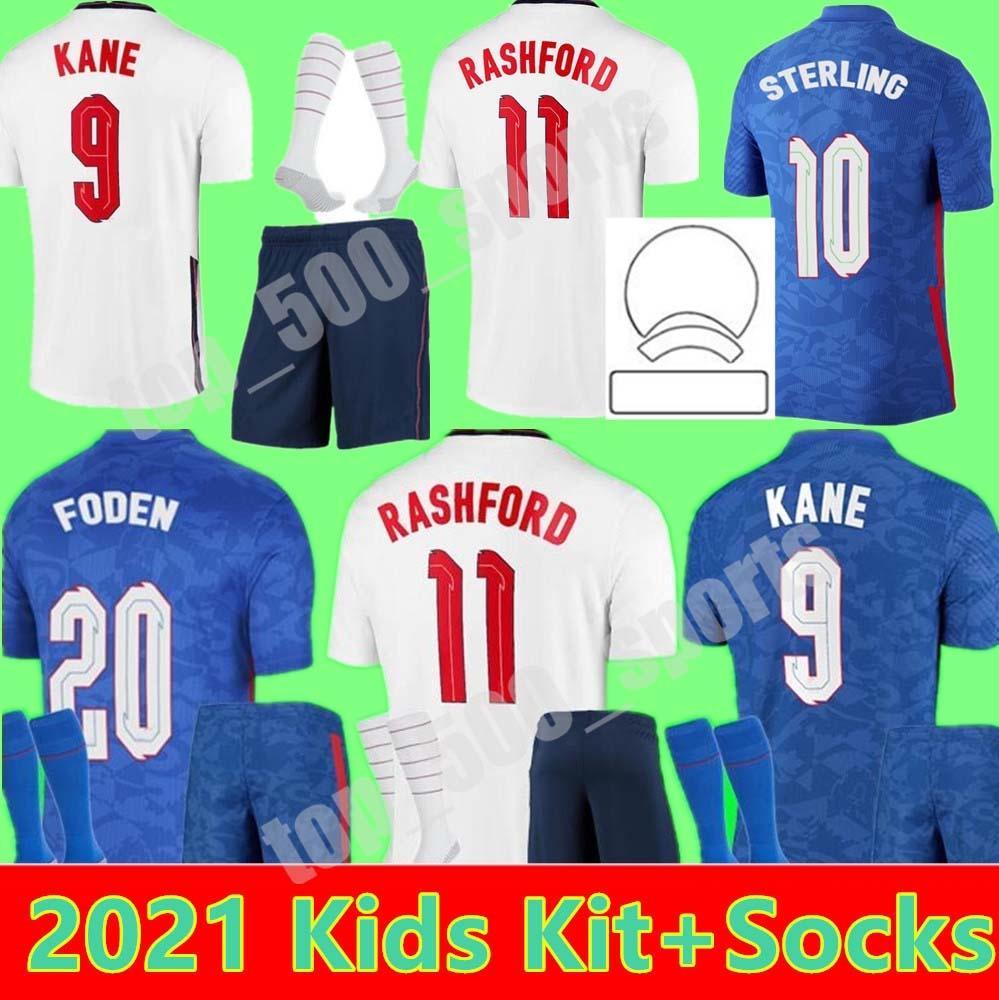 2021 كيت كيت كيت الأوروبي فريق القومي لكرة القدم جيرسي فودين غاضب كين إنجلترا الاسترلاند راشفورد 21 22 المنزل بعيدا شباب الأولاد كرة القدم الفانيلة قميص