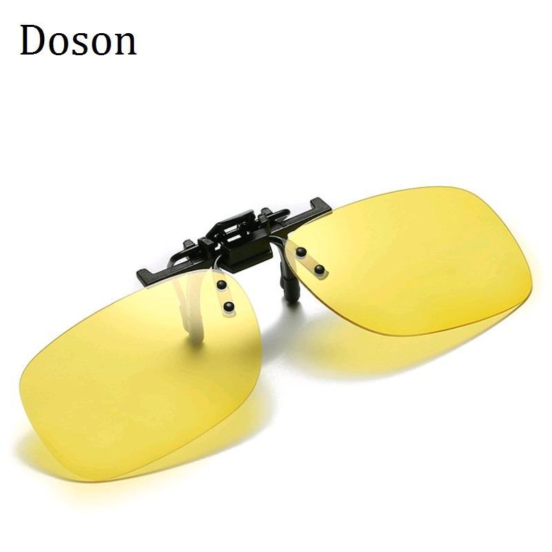 Clip polarizado fotocrómico en gafas de sol cerca de conducción de visión nocturna Lente anti-UVA Anti-UVB Gafas de sol Clip de Sol UV400