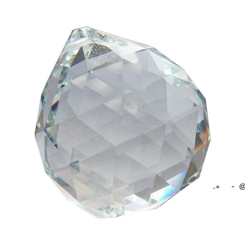 60 мм прозрачный хрустальный шар граненый шар призмы искусство декор для фотографии свадебный декор висит капля люстры кулоны декоративный шар EWF6413