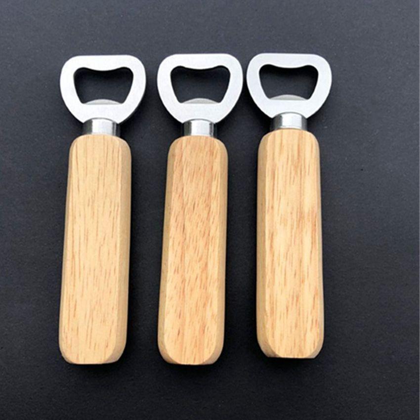 Poignée en bois ouvre-bouteille ouvre-bouteilles portables ouvertures de bière Bar cuisine Outils Outils de bière bouteille de bière ouvre-bouteille ouvre-bouteille CYZ3061
