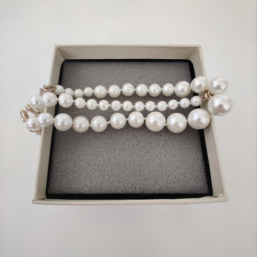 Collier long Perle Top Qualité Femme de mode sauvage Exquise de bijoux Exquise