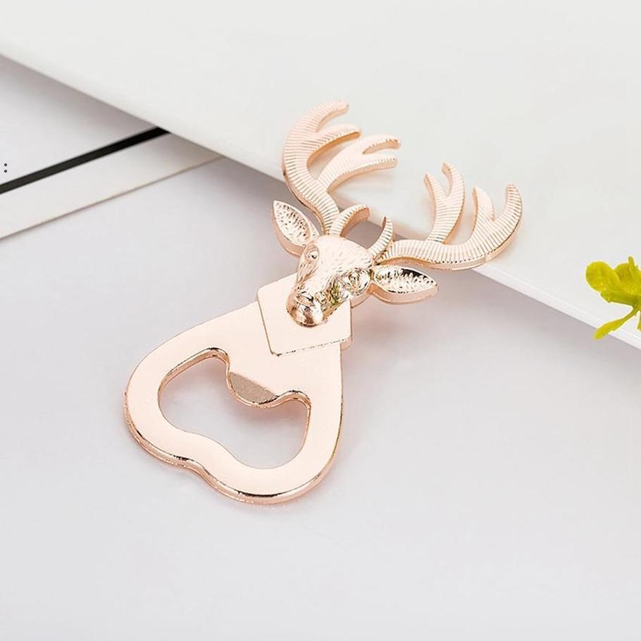 Deer Beer Bottle Opener Wedding Birthday Gift Box Christmas Decoration Metal Openers BWE8388