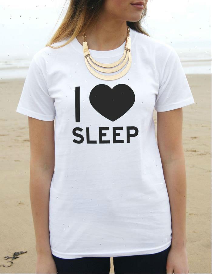 Ich liebe Schlafdruck Casual Womens T-shirts lustig weiß schwarz T-Stück Harajuku Hipster Street ZT203 125