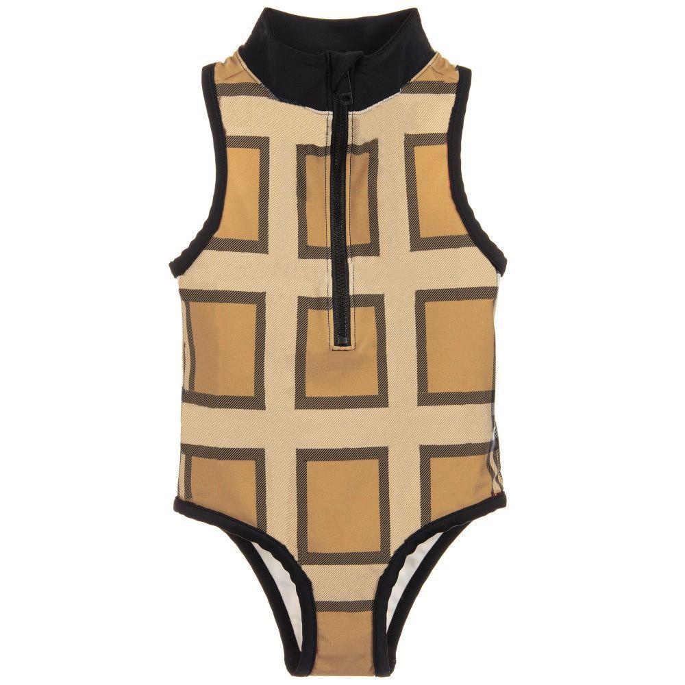 أطفال قطعة واحدة ملابس السباحة لطيف الصيف شريط الموضوع موضوع تحقق نمط فتاة ملابس السباحة مجموعة أزياء مريحة ملابس الأطفال البيكينيات