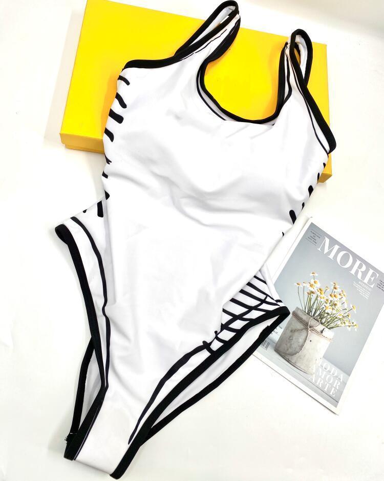 S-XL Sommer Sexy einteiliger Bikini für Frauen Badeanzüge Mode Buchstaben Druck Swimwear Dame Backless Badeanzüge 4 Arten Option