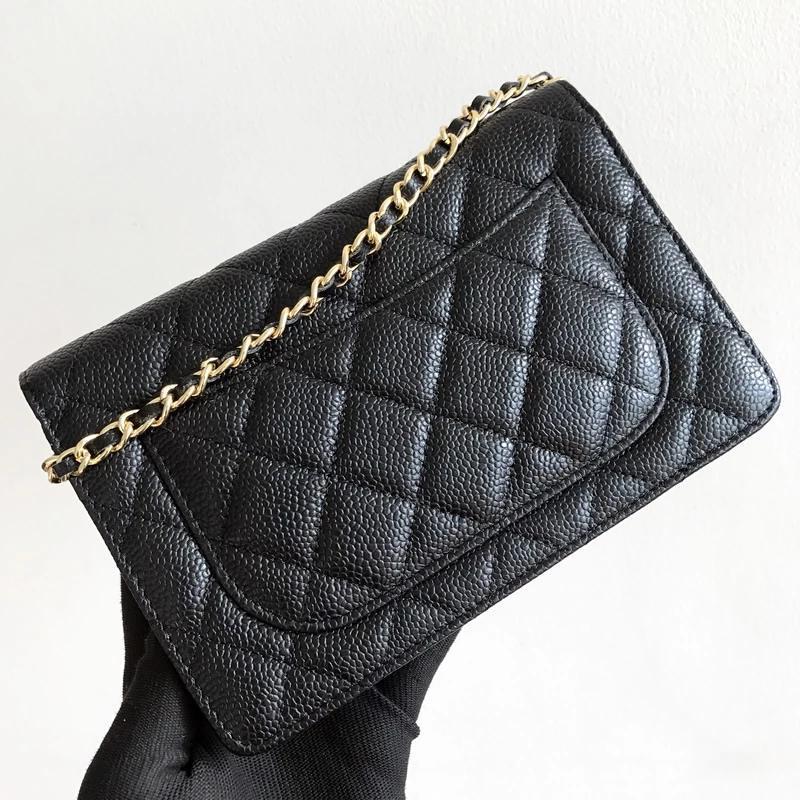 Вечерние сумки WOC мода простая небольшая квадратная сумка женский дизайнер высокого качества реальная кожаная цепочка мобильного телефона сумочка