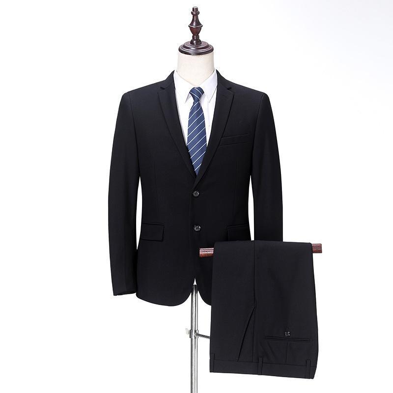 Herrenanzüge Huagongzi Mitte Alter Mann Wolle Mode Two Piece Business Freizeitanzug