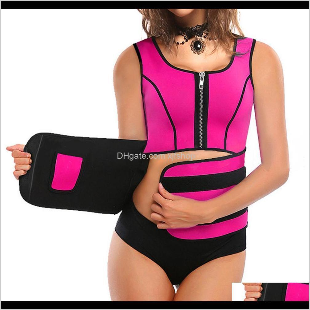 Gym Clothing Exercise Fitness Wear Athletic Outdoor Apparel Sports Outdoors Drop Delivery 2021 Women Neoprene Vest Slim Belt Shirt Body Shape