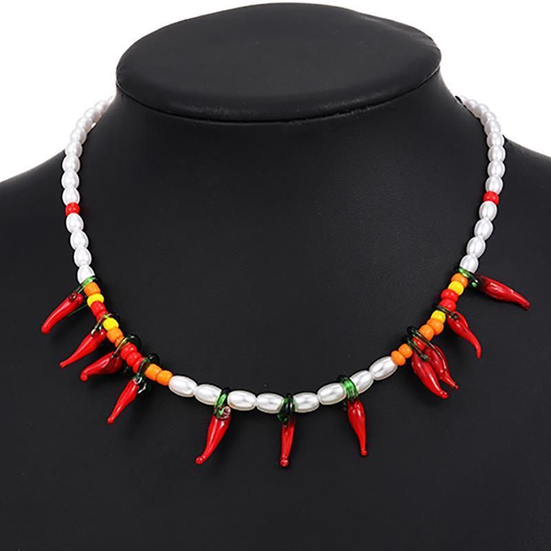 الإناث الأزياء خمر اللؤلؤ قلادة بسيطة العرقية سلسلة المختنق بيان القلائد للنساء مجوهرات اكسسوارات هدية المختنقون