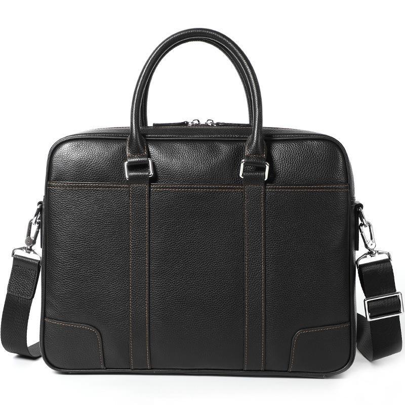 정품 가죽 남성 서류 가방 핸드백 노트북 가방 횡단면 남성용 컴퓨터 가방 사업 가방 # 301