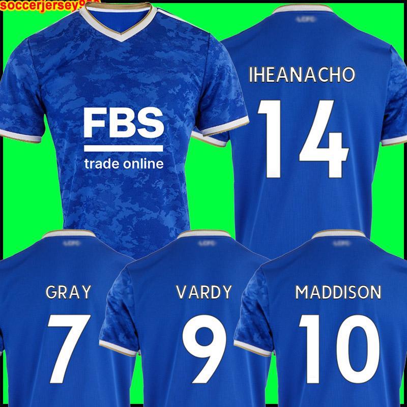 Maglia da calcio Leicester 21 22 CITY 2021 2022 VARDY NDIDI MADDISON IHEANACHO TIELEMANS Maglia da calcio GRIGIA divise da uomo + kit per bambini
