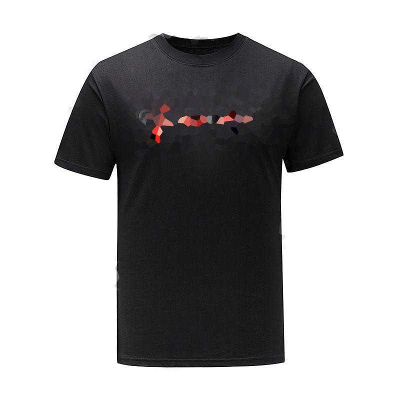 21ss Письмо Печать Светоотражающая футболка Мужчины Женщины Черный Белый Летний Мода Повседневная Улица Футболка Дизайнер Граффити Полосый футболки