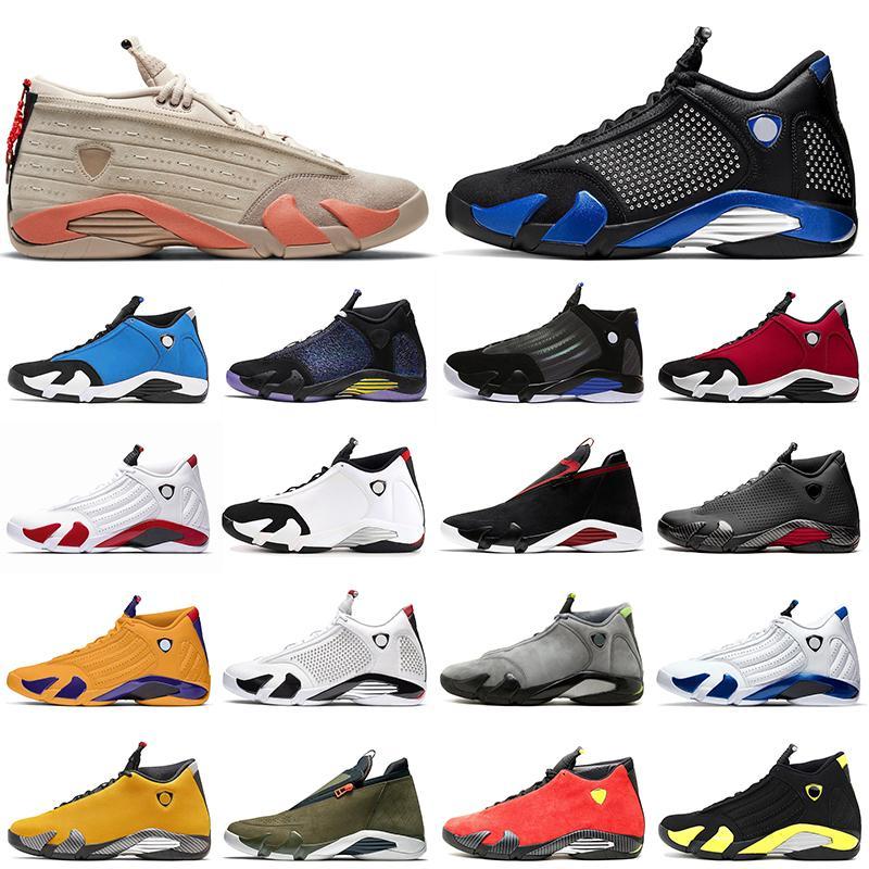 Air Jordan 14 Zapatillas de baloncesto retro 14s Hombre Clot Hyper Candy Candy Cane Chameleon Gimnasio Blue University Gold Thot Thot Mens Trainers Deportes Zapatillas deportivas