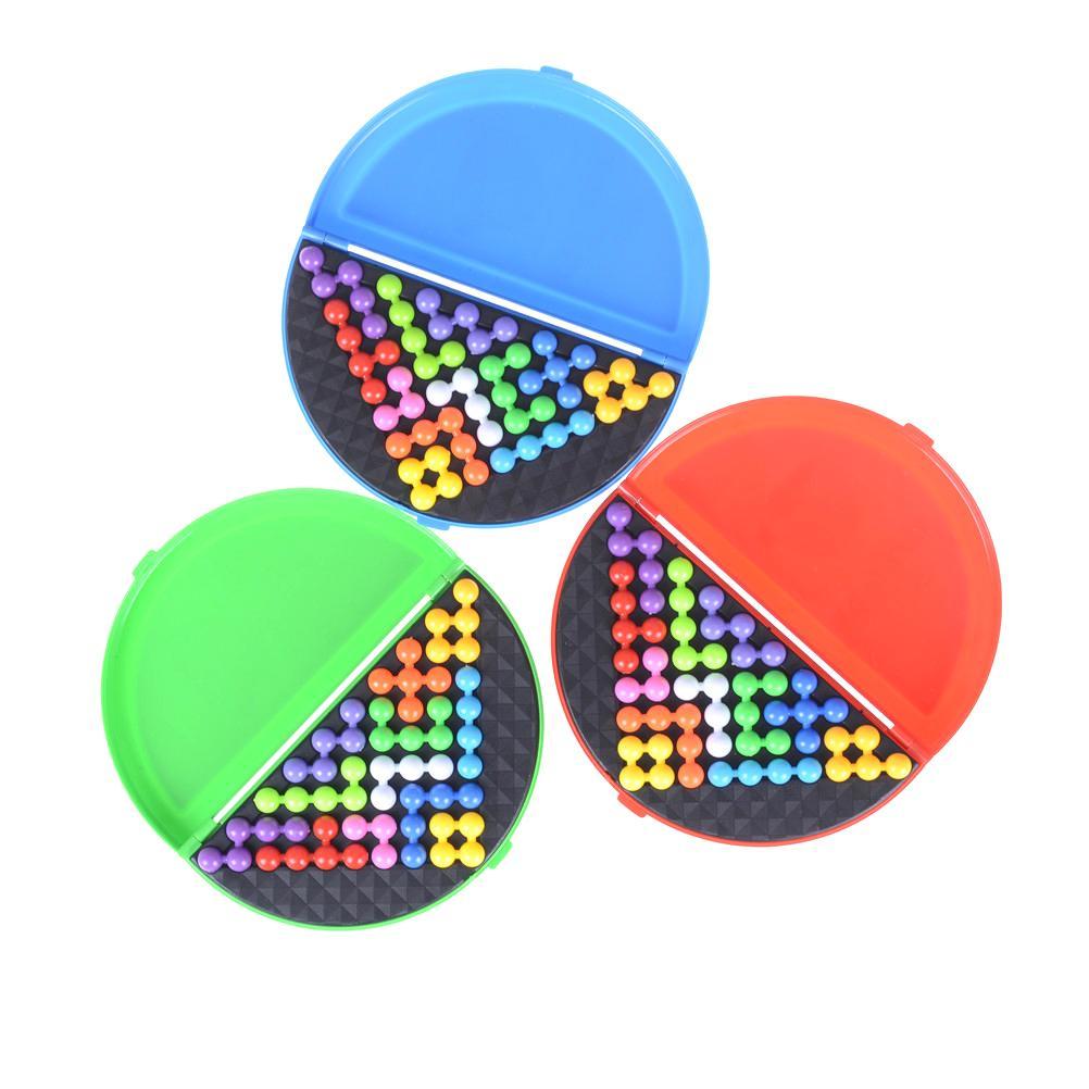 1 مجموعة الكلاسيكية لغز الهرم للأطفال لوحة الذكاء اللؤلؤ العقل المنطقي لعبة الدماغ دعابة ألعاب تعليمية الهرم الخرز لغز