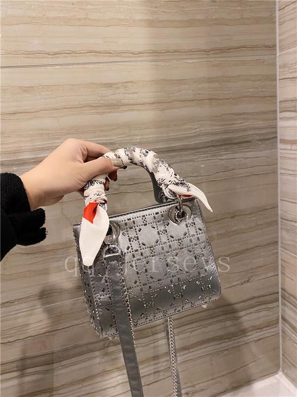 Dai مصمم الفاخرة الحرير ارتفاع فاي الماس الكريستال جودة ثلاثة شبكة حجر الراين الساخنة حمل حقيبة تسوق حقيبة صغيرة الكتف رسول حقيبة صغيرة